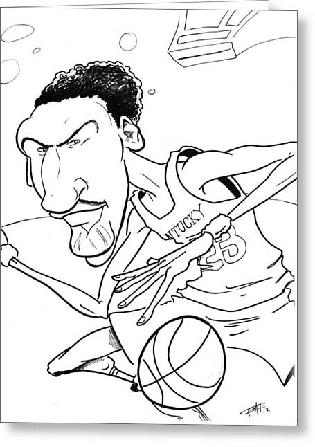 I Roate This Drawings Greeting Cards - Anthony Davis Greeting Card by Big Mike Roate