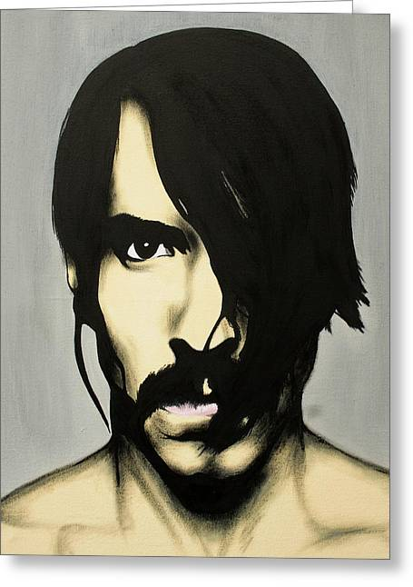 Red Hot Chili Peppers Greeting Cards - Anthony Kiedis Greeting Card by Antony Bagley