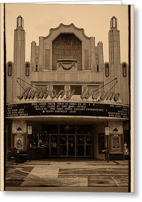 Pa Greeting Cards - Anthony Wayne Theater Greeting Card by Jack Paolini