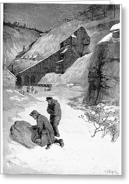 Anthracite Greeting Cards - Anthracite Strike, 1888 Greeting Card by Granger