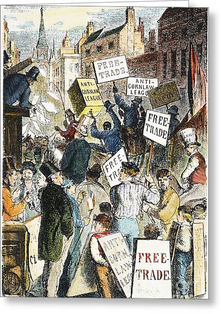 Rally Greeting Cards - ANTI-CORN LAW LEAGUE, 1840s Greeting Card by Granger