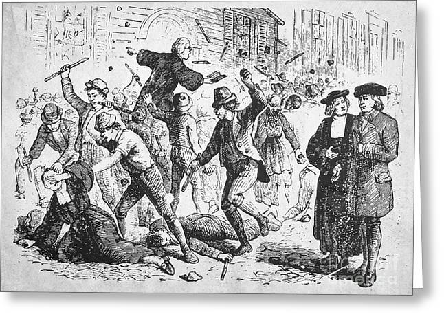 1750 Greeting Cards - Anti-methodist Riots, 1750 Greeting Card by Granger
