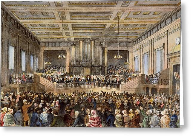 Exeter Hall Greeting Cards - Anti-slavery Convention Greeting Card by Granger