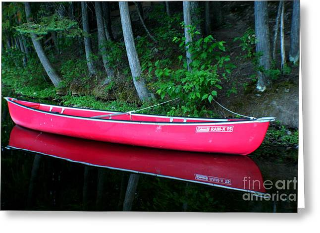 Canoe Greeting Cards - Anticipation Greeting Card by Idaho Scenic Images Linda Lantzy