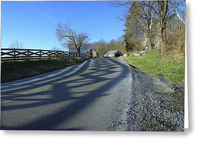 Md Greeting Cards - Antietam Road Greeting Card by Jan Faul