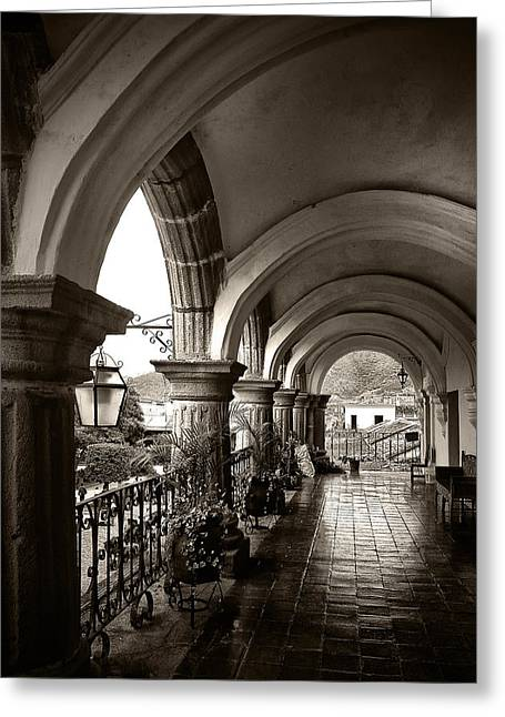 Antigua Arches Greeting Card by Tom Bell