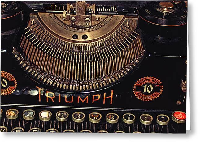 Antiquated Typewriter Greeting Card by Jutta Maria Pusl