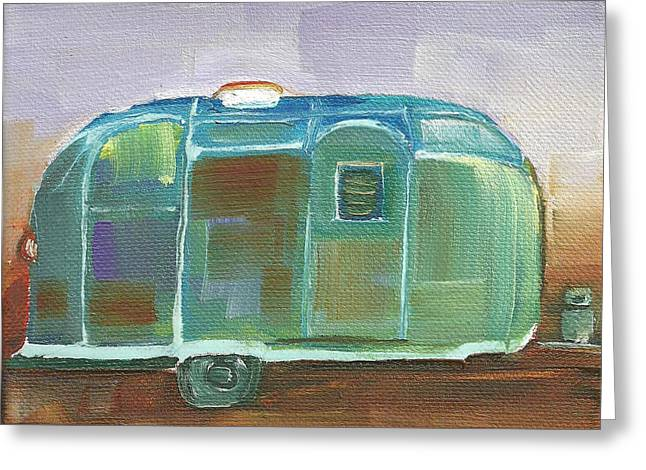 Antique Airstream Greeting Card by Faith Frykman