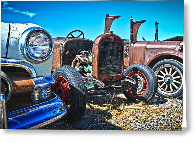 Antique Auto Sales Greeting Card by Steve McKinzie