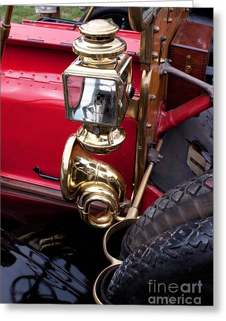 Brass Fittings Greeting Cards - Antique Automobile 7 Greeting Card by Robert Sander