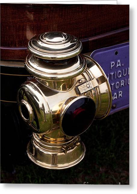 Brass Fittings Greeting Cards - Antique Automobile 8 Greeting Card by Robert Sander
