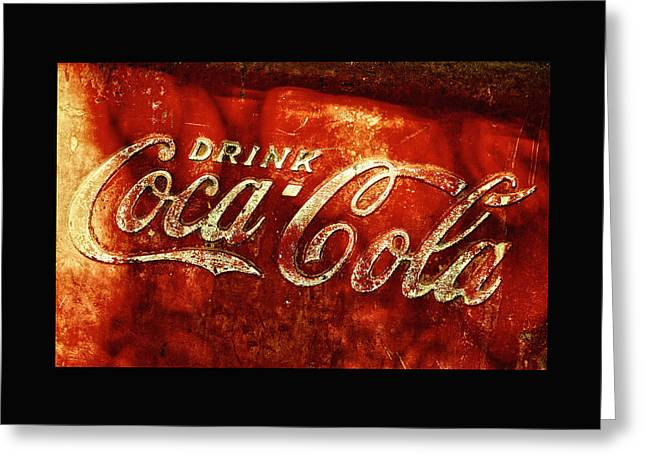 Coca-cola Sign Greeting Cards - Antique Coca-Cola Cooler II Greeting Card by Stephen Anderson