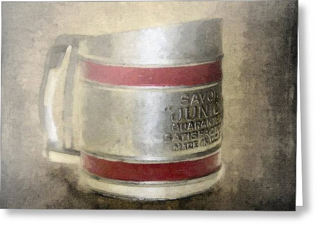Flour Greeting Cards - Antique Flour Sifter Greeting Card by Betty LaRue