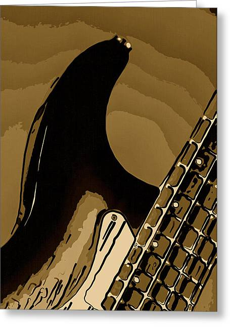 Combo Greeting Cards - Antique Guitar Greeting Card by M K  Miller