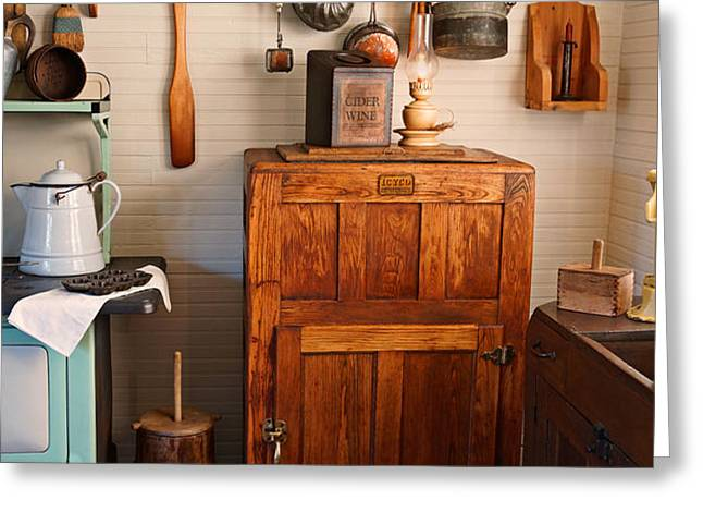 Antique Ice Box Greeting Card by Carmen Del Valle