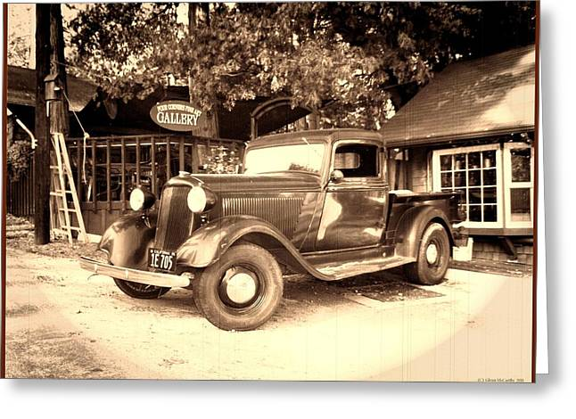 Glenn Mccarthy Greeting Cards - Antique Road Warrior - 1935 Dodge Greeting Card by Glenn McCarthy Art and Photography