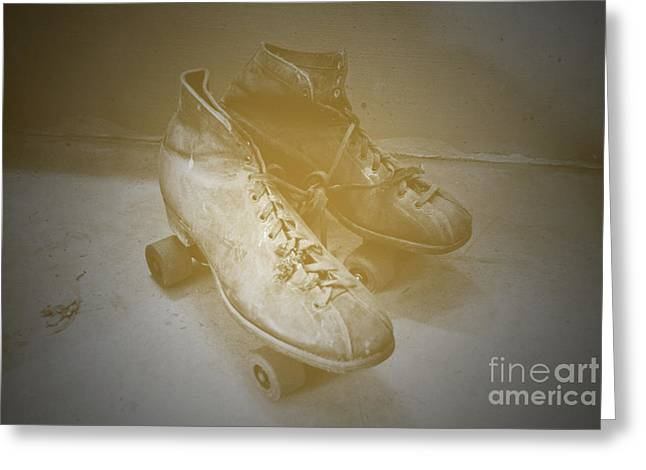 Antique Roller Skates Greeting Card by Jost Houk