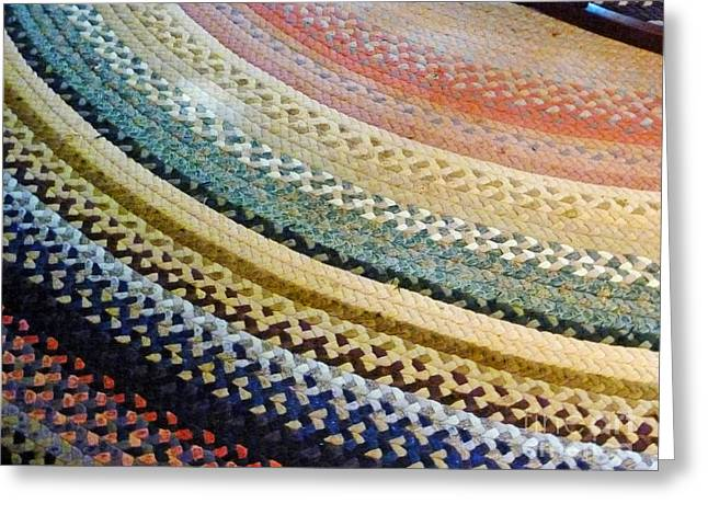 Braided Rugs Greeting Cards - Antique Rug Greeting Card by Methune Hively
