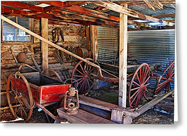 Still Life Photographs Greeting Cards - Antique Shed Greeting Card by Melany Sarafis