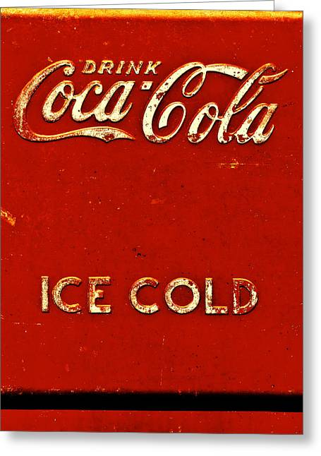 Coca-cola Sign Greeting Cards - Antique soda cooler 6 Greeting Card by Stephen Anderson