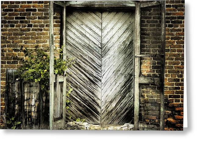 Screen Doors Greeting Cards - Antique Store Door Greeting Card by Sari Sauls