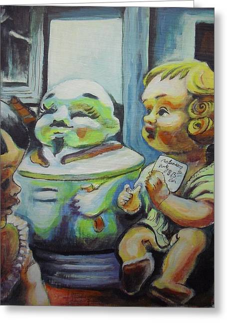 Toy Store Paintings Greeting Cards - Antique Store Finds I Greeting Card by Aleksandra Buha