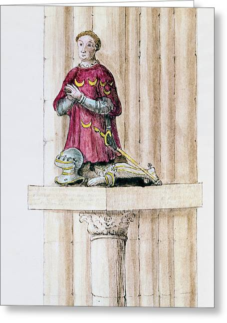 Notre Dame Drawings Greeting Cards - Antoine Des Essarts Greeting Card by Granger