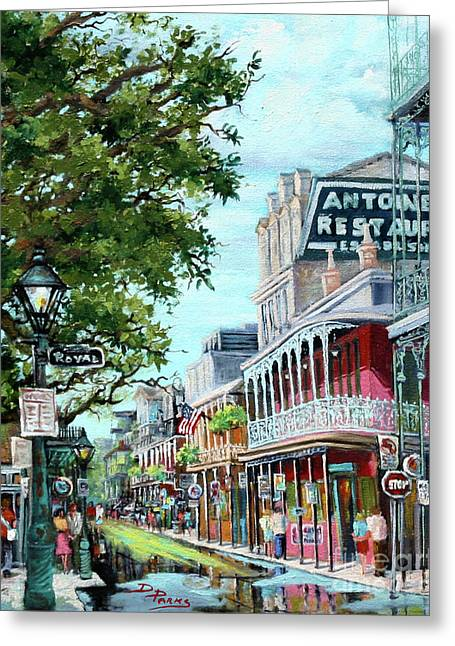 Royal Art Paintings Greeting Cards - Antoines Greeting Card by Dianne Parks