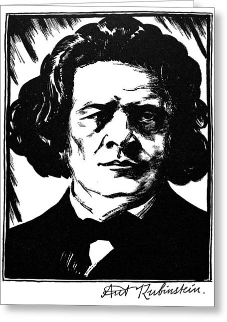 Autograph Greeting Cards - Anton Rubinstein Greeting Card by Granger