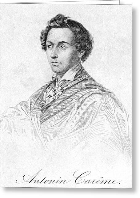 Autograph Greeting Cards - Antonin CarÊme (1783-1833) Greeting Card by Granger