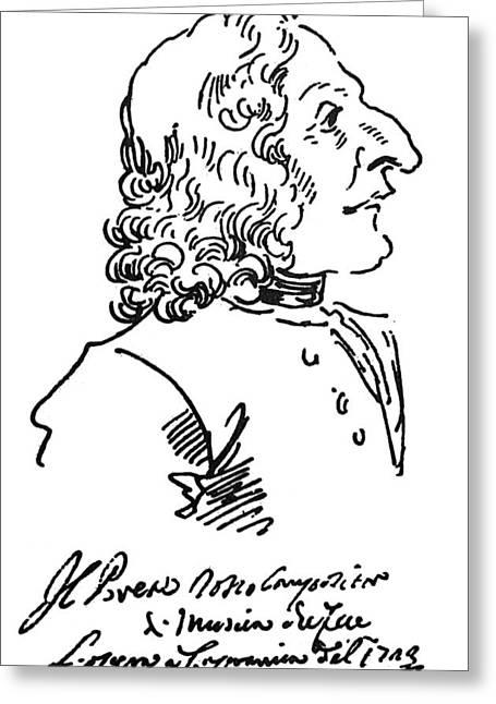 Autograph Greeting Cards - ANTONIO VIVALDI (c1675-1741) Greeting Card by Granger