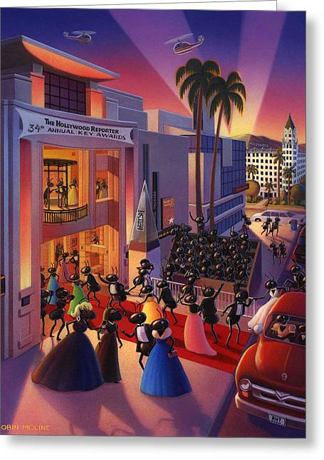 """red Carpet"" Greeting Cards - Ants Awards night Greeting Card by Robin Moline"