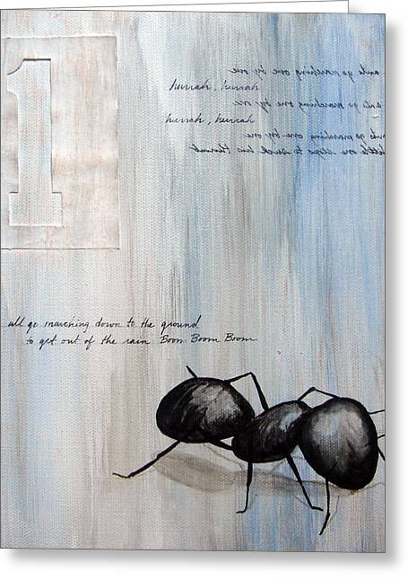 Insects Greeting Cards - Ants Marching 1 Greeting Card by Kristin Llamas