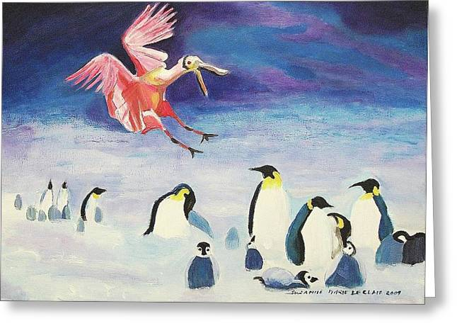 Suzanne Molleur Paintings Greeting Cards - Anxiety Greeting Card by Suzanne  Marie Leclair