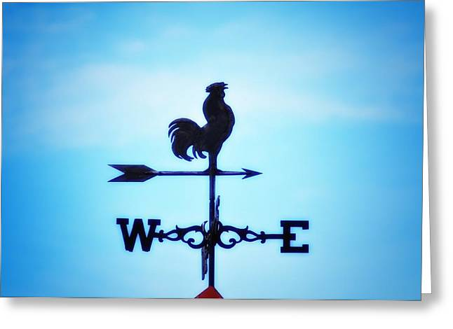 Weathervane Digital Art Greeting Cards - Any Way The Wind Blows Home Greeting Card by Bill Cannon