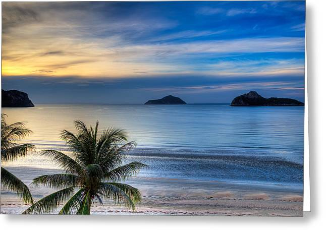Tourism Digital Art Greeting Cards - Ao Manao Bay Greeting Card by Adrian Evans