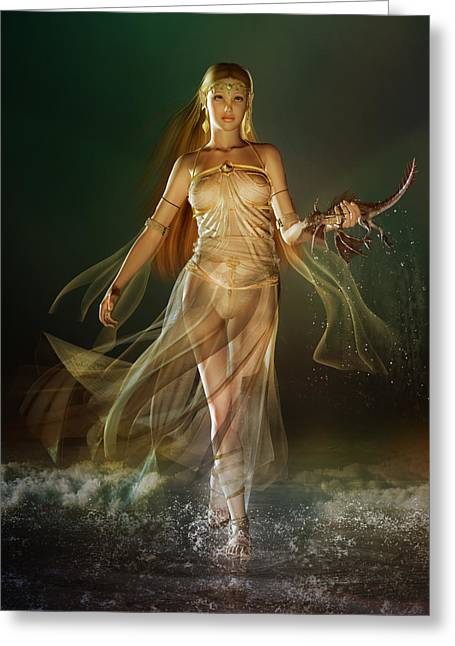 Mystical Women Greeting Cards - Aoife Greeting Card by Karen H