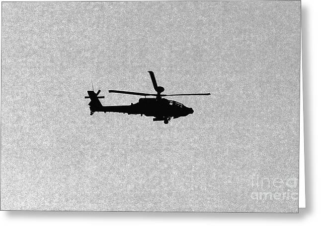 Apache Attack Helicopter Greeting Card by Darren Burroughs