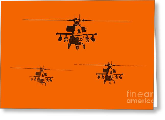 U.s. Air Force Greeting Cards - Apache Dawn Greeting Card by Pixel  Chimp