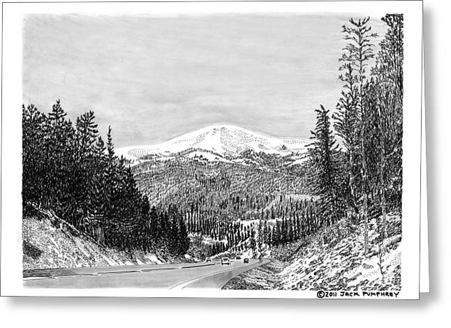 Pen And Ink Framed Prints Greeting Cards - Apache Summit Siera Blanco Greeting Card by Jack Pumphrey