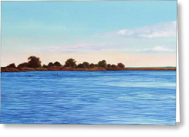 Gulf Coast Florida Greeting Cards - Apalachicola Bay Autumn Morning Greeting Card by Paul Gaj