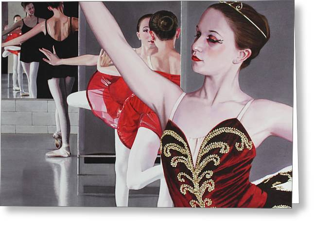 Ballet Dancers Paintings Greeting Cards - Aplomb Greeting Card by Denny Bond