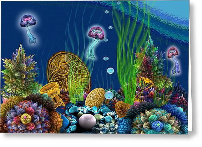Gimp Greeting Cards - Apo Sunken Treasure Greeting Card by Peggi Wolfe