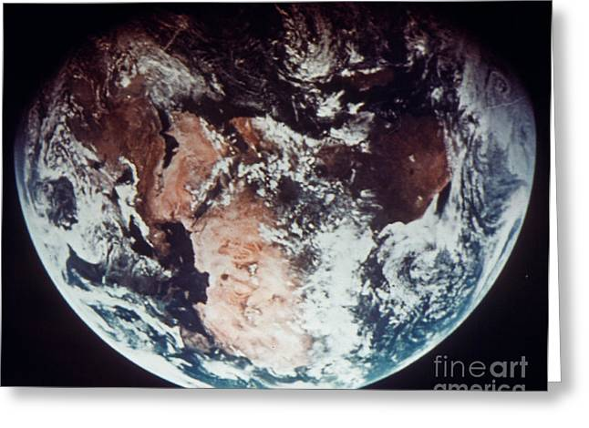 APOLLO 11: EARTH Greeting Card by Granger