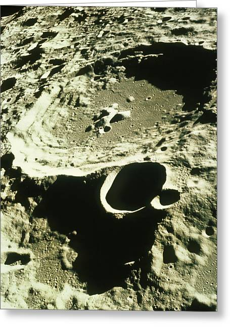 Moon Surface Greeting Cards - Apollo 11 Image Of Craters On The Moon Greeting Card by Nasavrs