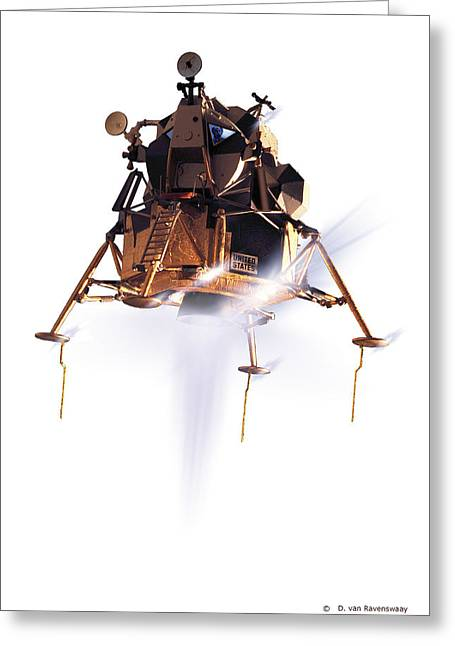 Lm Greeting Cards - Apollo 11 Lunar Module, Computer Artwork Greeting Card by Detlev Van Ravenswaay