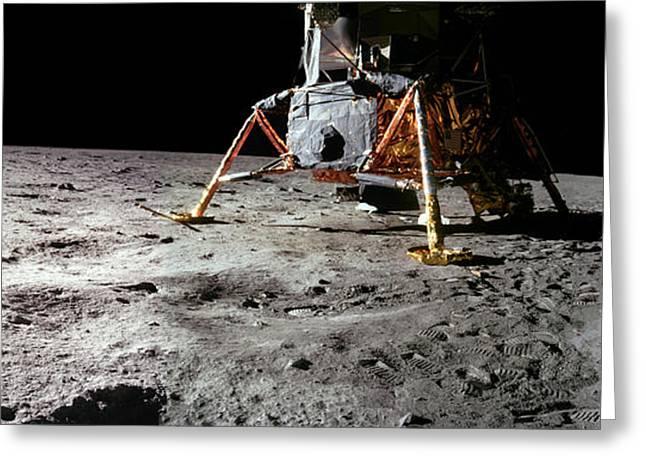 Module Greeting Cards - Apollo 11 Lunar Module Greeting Card by Nasa