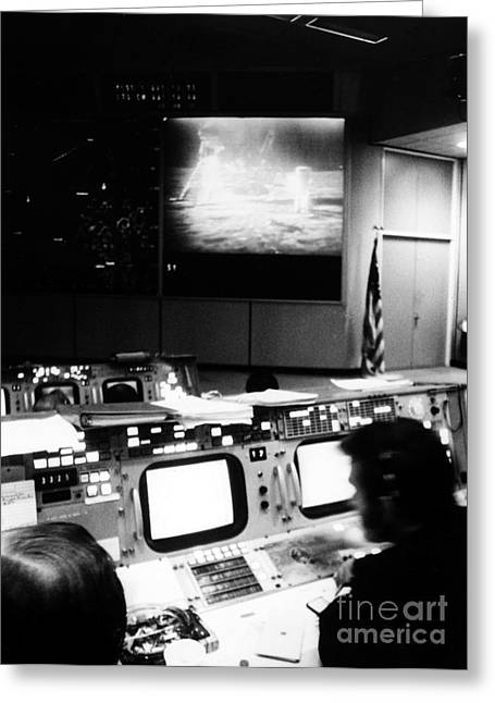 Control Center Greeting Cards - Apollo 11: Mission Control Greeting Card by Granger