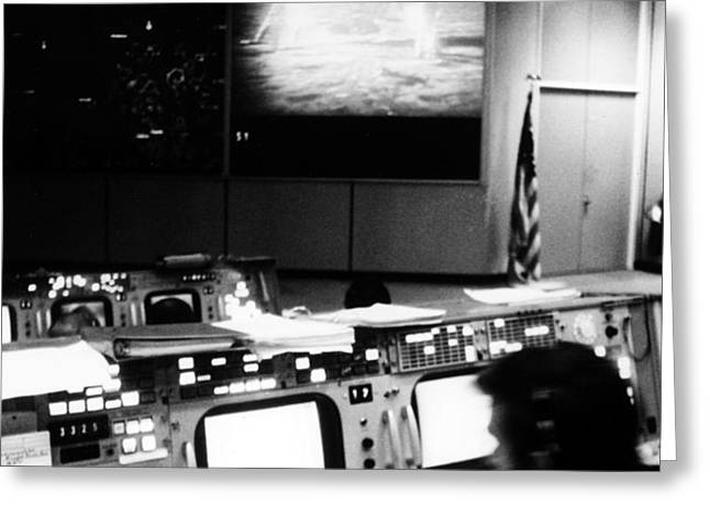 APOLLO 11: MISSION CONTROL Greeting Card by Granger