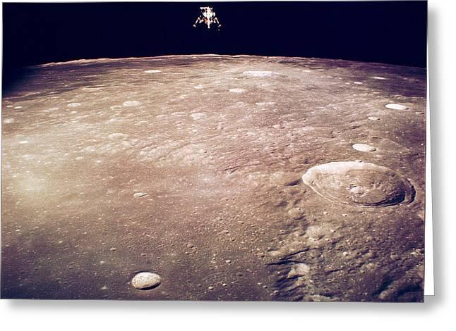 Apollo Program Greeting Cards - Apollo 12 Lunar Lander Greeting Card by Nasa